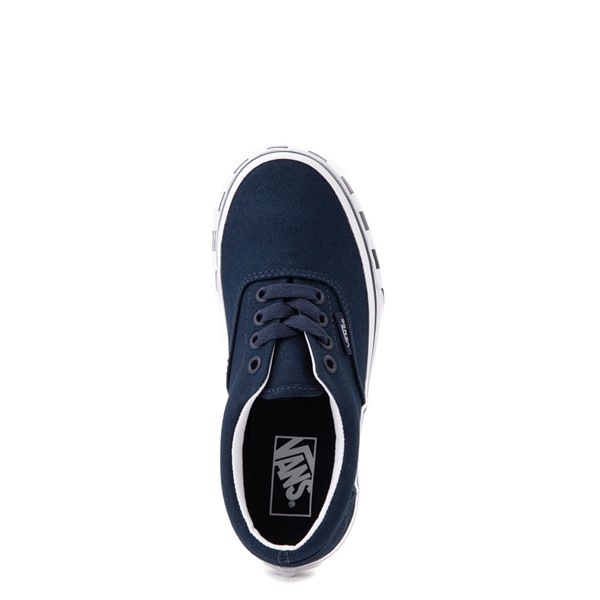 alternate view Vans Era Checkerboard Bumper Skate Shoe - Little Kid - Dress BluesALT2