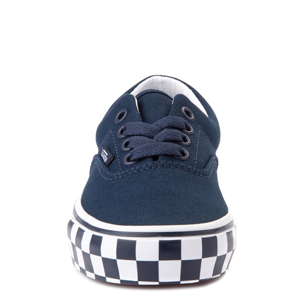 alternate view Vans Era Checkerboard Bumper Skate Shoe - Little Kid - Dress BluesALT4
