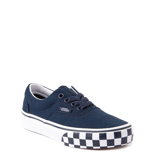 alternate view Vans Era Checkerboard Bumper Skate Shoe - Little Kid - Dress BluesALT5