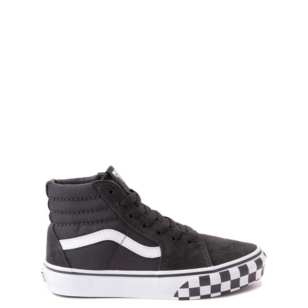 Vans Sk8 Hi Checkerboard Bumper Skate Shoe - Little Kid - Asphalt