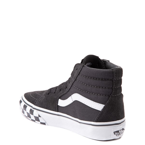 alternate view Vans Sk8 Hi Checkerboard Bumper Skate Shoe - Big Kid - AsphaltALT1