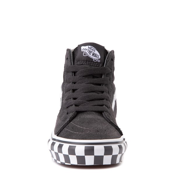alternate view Vans Sk8 Hi Checkerboard Bumper Skate Shoe - Big Kid - AsphaltALT4