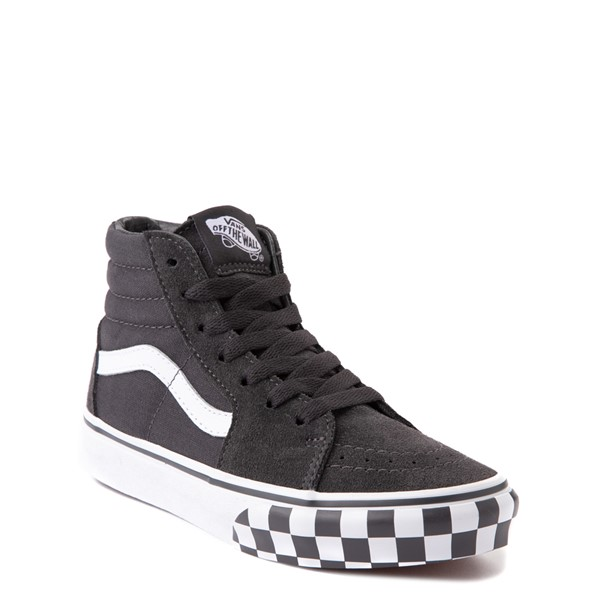 alternate view Vans Sk8 Hi Checkerboard Bumper Skate Shoe - Big Kid - AsphaltALT5
