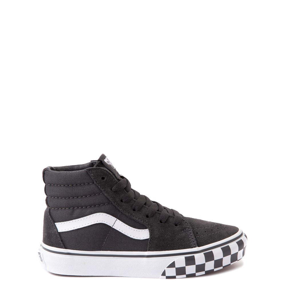 Vans Sk8 Hi Checkerboard Bumper Skate Shoe - Big Kid - Asphalt