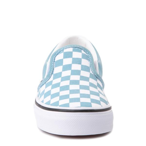 alternate view Vans Slip On Checkerboard Skate Shoe - Big Kid - DelphiniumALT4