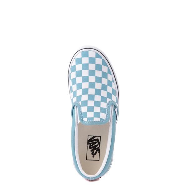 alternate view Vans Slip On Checkerboard Skate Shoe - Big Kid - DelphiniumALT4B