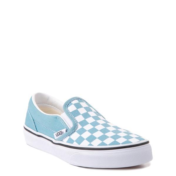 alternate view Vans Slip On Checkerboard Skate Shoe - Big Kid - DelphiniumALT5