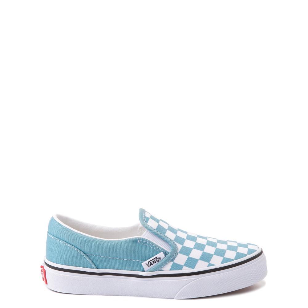 Vans Slip On Checkerboard Skate Shoe - Big Kid - Delphinium