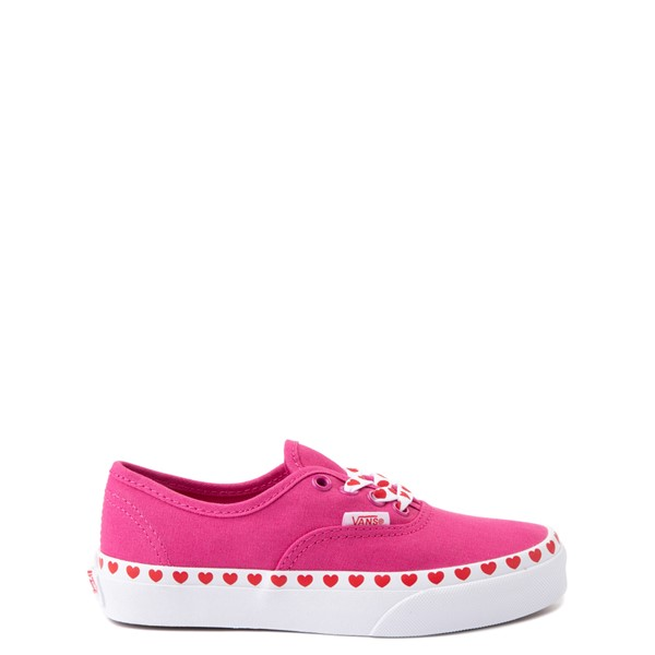 Vans Authentic Hearts Skate Shoe - Little Kid - Fuchsia