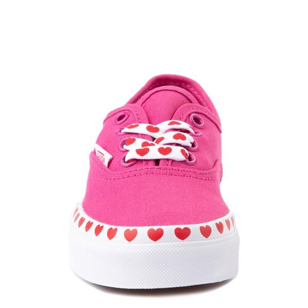 alternate view Vans Authentic Hearts Skate Shoe - Big Kid - FuchsiaALT4