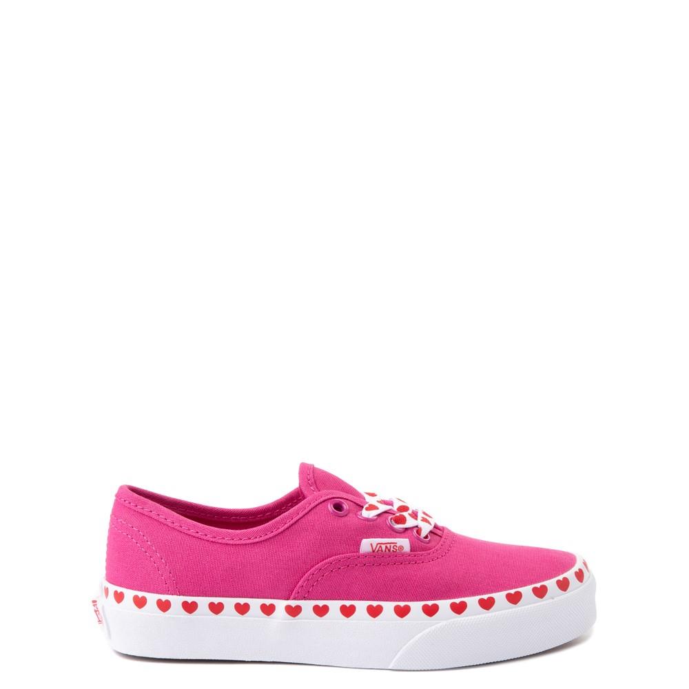 Vans Authentic Hearts Skate Shoe - Big Kid - Fuchsia