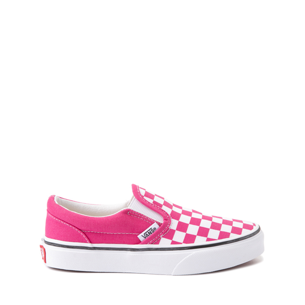 Vans Slip On Checkerboard Skate Shoe - Little Kid - Fuchsia