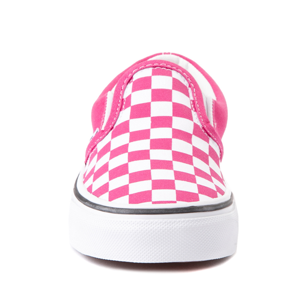 alternate view Vans Slip On Checkerboard Skate Shoe - Little Kid - FuchsiaALT4