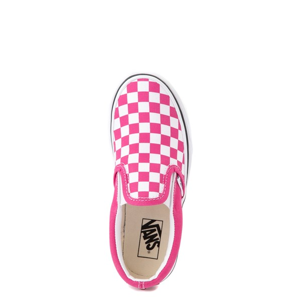 alternate view Vans Slip On Checkerboard Skate Shoe - Little Kid - FuchsiaALT4B