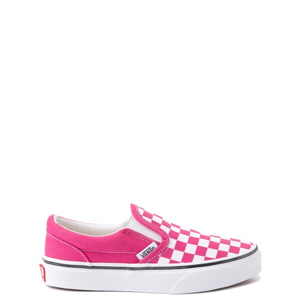 Vans Slip On Checkerboard Skate Shoe - Big Kid - Fuchsia