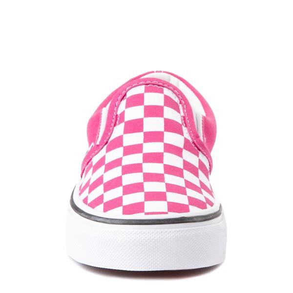 alternate view Vans Slip On Checkerboard Skate Shoe - Big Kid - FuchsiaALT4
