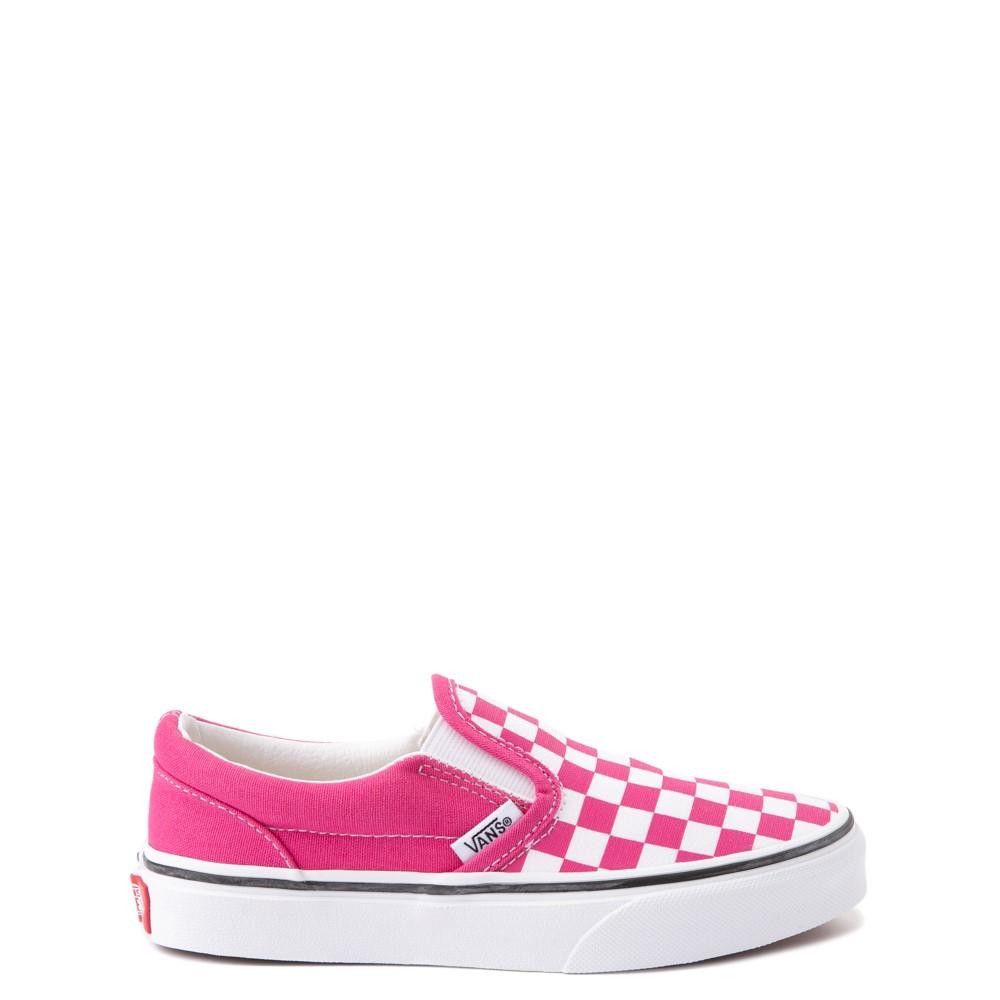 Vans Slip On Checkerboard Skate Shoe - Big Kid - Fuchsia