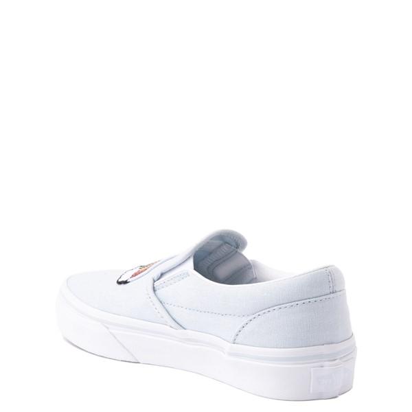 alternate view Vans Slip On Sequin Patch Skate Shoe - Little Kid - Ballad BlueALT1