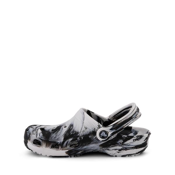 alternate view Crocs Classic Clog - Little Kid / Big Kid - Marbled Black / WhiteALT1