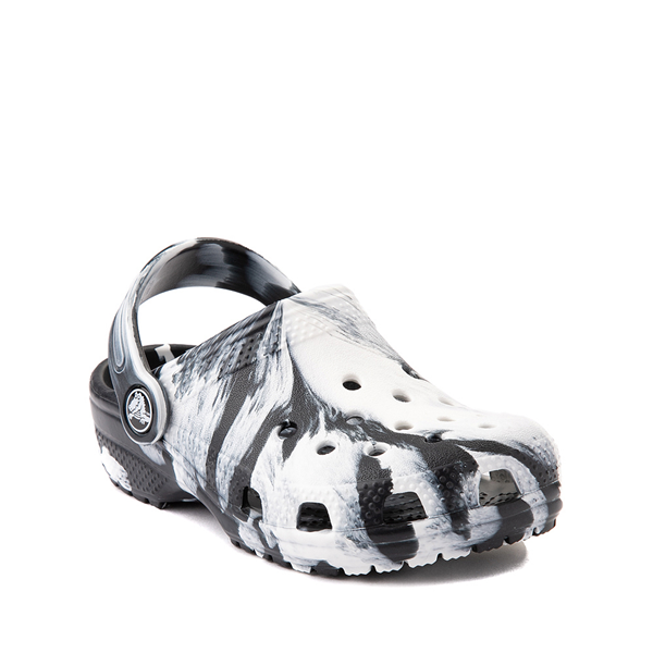 alternate view Crocs Classic Clog - Little Kid / Big Kid - Marbled Black / WhiteALT5