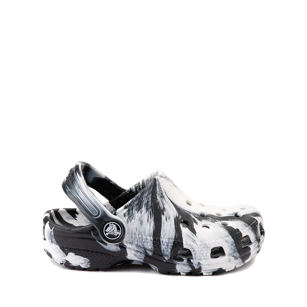 Crocs Classic Clog - Little Kid / Big Kid - Marbled Black / White