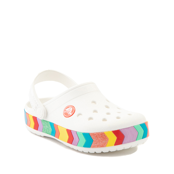 alternate view Crocs Crocband™ Chevron Clog - Little Kid / Big Kid - White / MulticolorALT5