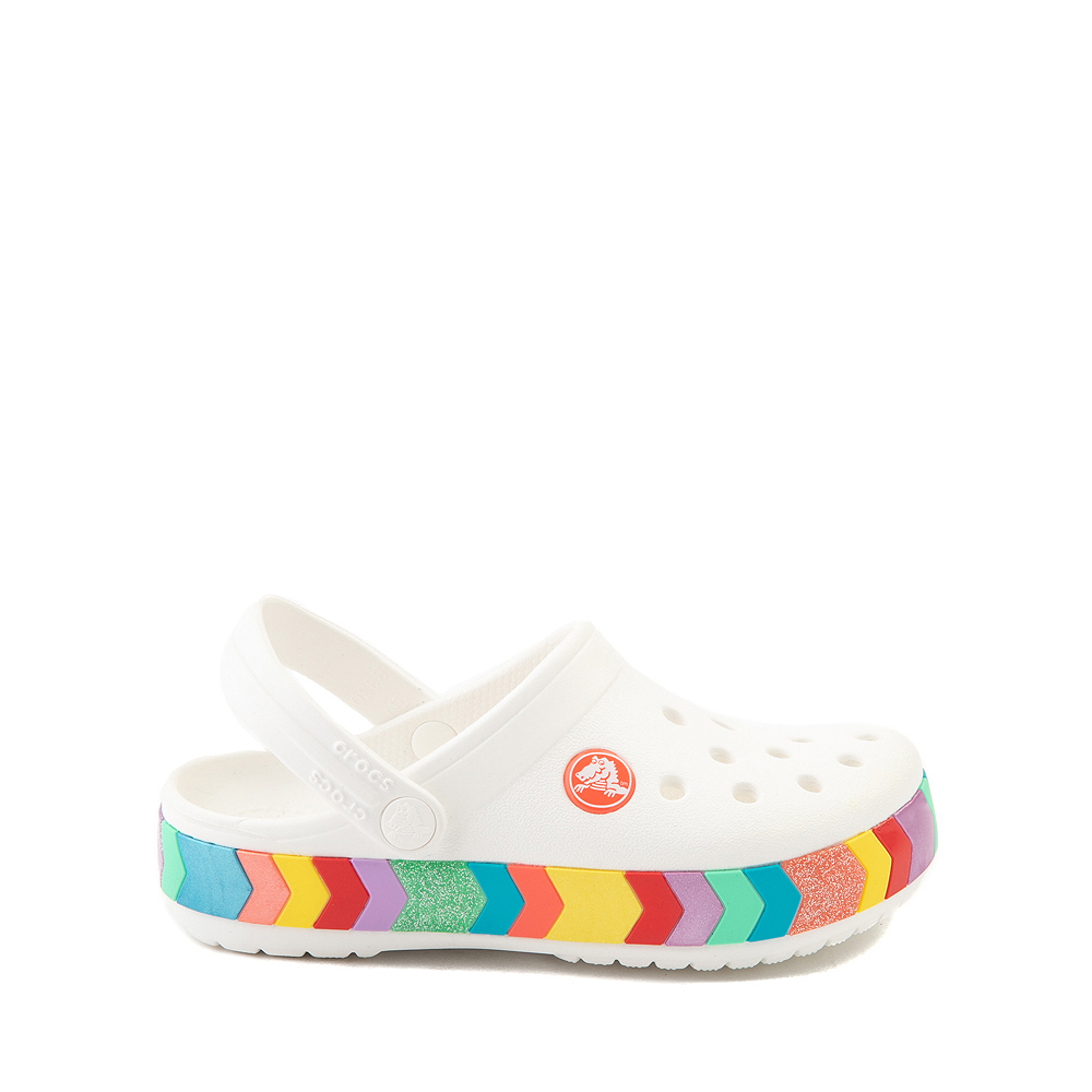 Crocs Crocband™ Chevron Clog - Little Kid / Big Kid - White / Multicolor