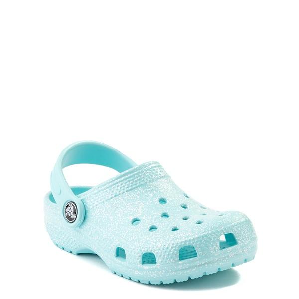 alternate view Crocs Classic Glitter Clog - Little Kid / Big Kid - Ice BlueALT5