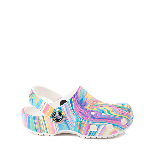 Crocs Classic Clog - Little Kid / Big Kid - White / Marbled Pastel Multicolor