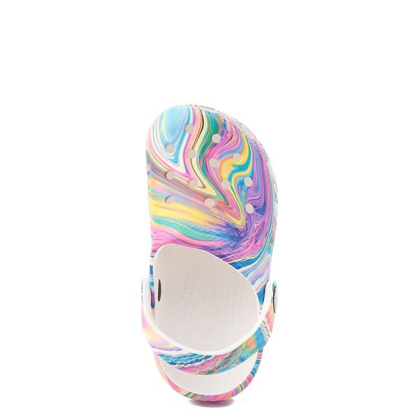 Crocs Classic Clog - Little Kid / Big Kid - White / Marbled Pastel Multicolor