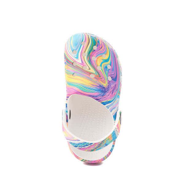 alternate view Crocs Classic Clog - Little Kid / Big Kid - White / Marbled Pastel MulticolorALT2