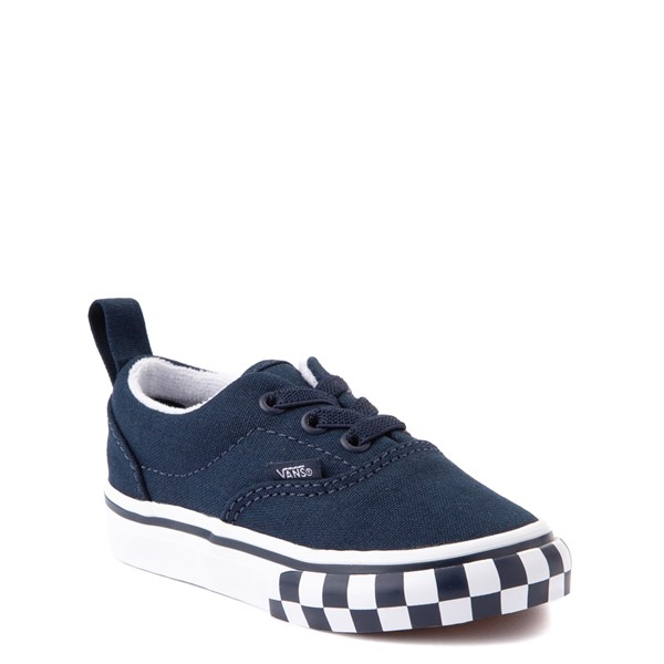 alternate view Vans Era Checkerboard Bumper Skate Shoe - Baby / Toddler - Dress BluesALT5