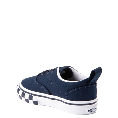 Alternate view of Vans Era Checkerboard Bumper Skate Shoe - Baby / Toddler - Dress Blues