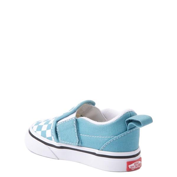 alternate view Vans Slip On V Checkerboard Skate Shoe - Baby / Toddler - DelphiniumALT1