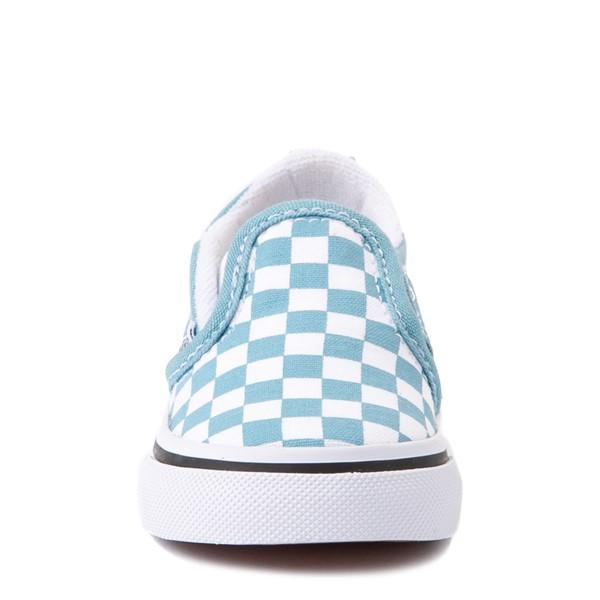 alternate view Vans Slip On V Checkerboard Skate Shoe - Baby / Toddler - DelphiniumALT4