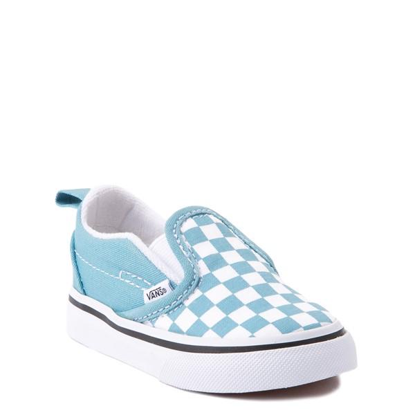 alternate view Vans Slip On V Checkerboard Skate Shoe - Baby / Toddler - DelphiniumALT5