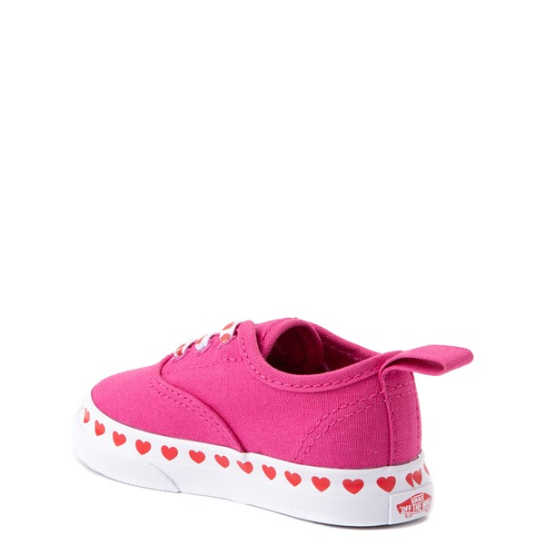 alternate view Vans Authentic Hearts Skate Shoe - Baby / Toddler - FuchsiaALT1