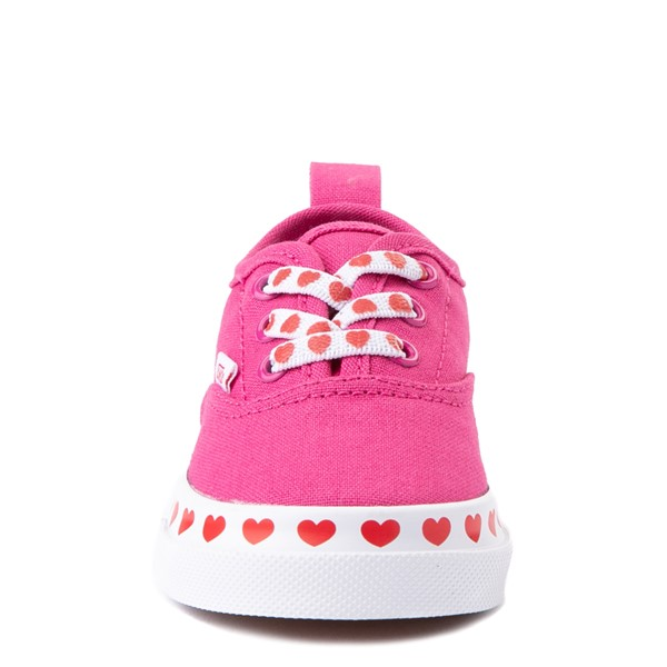 alternate view Vans Authentic Hearts Skate Shoe - Baby / Toddler - FuchsiaALT4