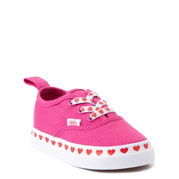 alternate view Vans Authentic Hearts Skate Shoe - Baby / Toddler - FuchsiaALT5