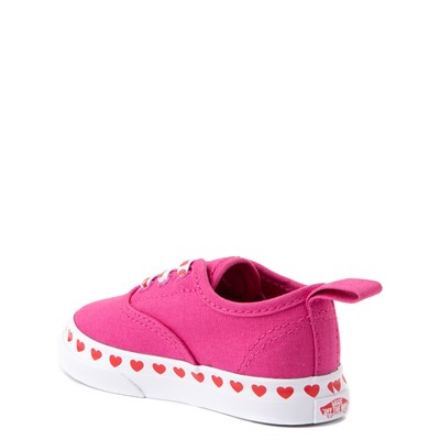 Alternate view of Vans Authentic Hearts Skate Shoe - Baby / Toddler - Fuchsia