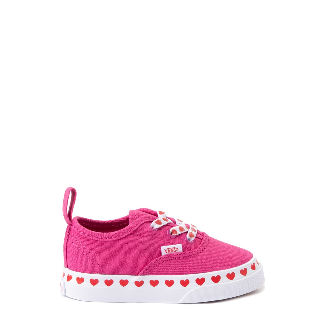 Vans Authentic Hearts Skate Shoe - Baby / Toddler - Fuchsia