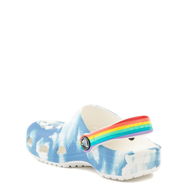 alternate view Crocs Classic Clog - Baby / Toddler / Little Kid - Sky / RainbowALT1