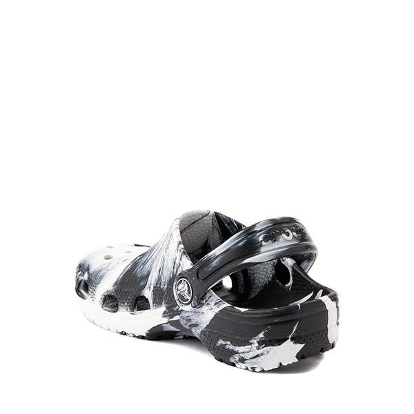 alternate view Crocs Classic Clog - Baby / Toddler / Little Kid - Marbled Black / WhiteALT1