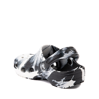 Alternate view of Crocs Classic Clog - Baby / Toddler / Little Kid - Marbled Black / White