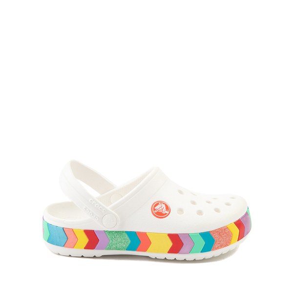 Main view of Crocs Crocband™ Chevron Clog - Baby / Toddler / Little Kid - White / Multicolor