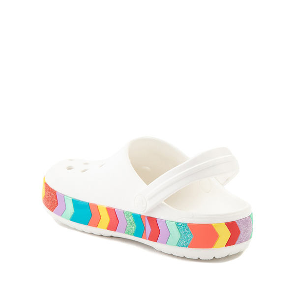 alternate view Crocs Crocband™ Chevron Clog - Baby / Toddler / Little Kid - White / MulticolorALT1