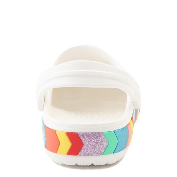 alternate view Crocs Crocband™ Chevron Clog - Baby / Toddler / Little Kid - White / MulticolorALT2B