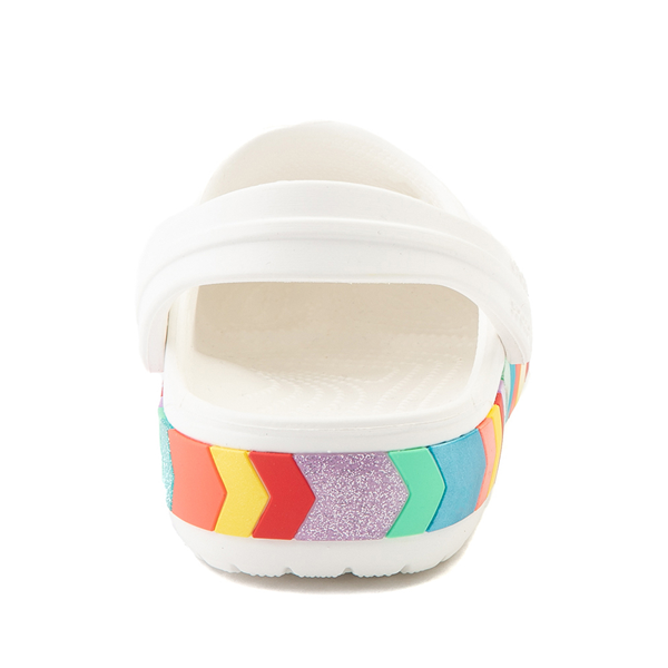 alternate view Crocs Crocband™ Chevron Clog - Baby / Toddler / Little Kid - White / MulticolorALT4