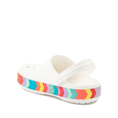 Alternate view of Crocs Crocband™ Chevron Clog - Baby / Toddler / Little Kid - White / Multicolor