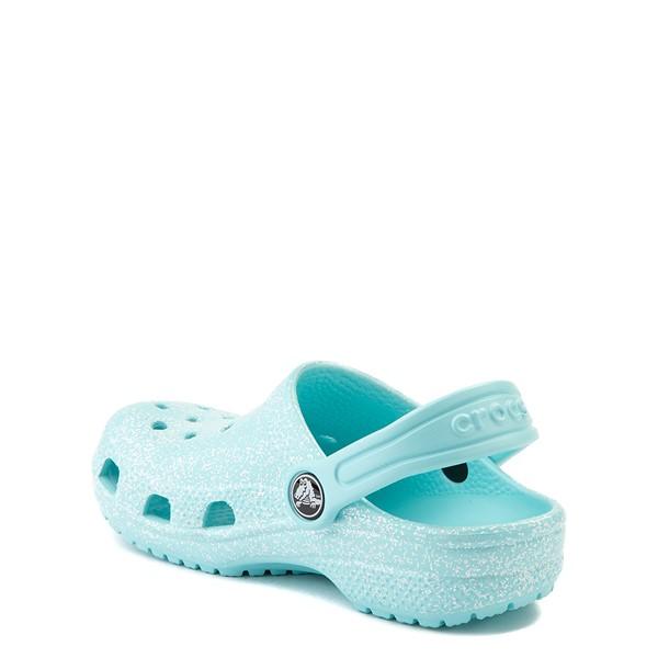 alternate view Crocs Classic Glitter Clog - Baby / Toddler / Little Kid - Ice BlueALT1